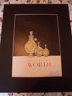 WORTH perfume  Large Original Advert from by BrightsidesVintage