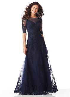 337f8f852a03 Stunning Tulle Bateau Neckline A-line Mother Of The Bride Dress With Beaed  Lace Appliques