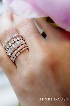 Best Stackable Wedding Rings Set And#8211; More Rings More Shine ★ See more: https://ohsoperfectproposal.com/wedding-rings-set/ #engagementring #proposal