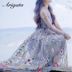 ドレス-ミニ・ミディアム 【韓国発】エレガント! シースルー花柄刺繍 レース ワンピース♪