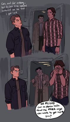 HAHAHAHA oh my god Dean's face<<<CAN WE PLEASE TALK ABOUT THE OTHER ANGEL THAT WANTS TO GET INSIDE YOU