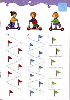 Прописи для дошкольников Writing Center Kindergarten, Kindergarten Homeschool Curriculum, Preschool Writing, Color Worksheets For Preschool, Prewriting Skills, Community Helpers Preschool, Preschool Learning Activities, Kids Education, Activities For Toddlers