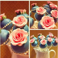 Vintage Rose Cake Pops by maskipopsbyadri on Etsy... I would have to practice for years to get these right but my goodness they are pretty.