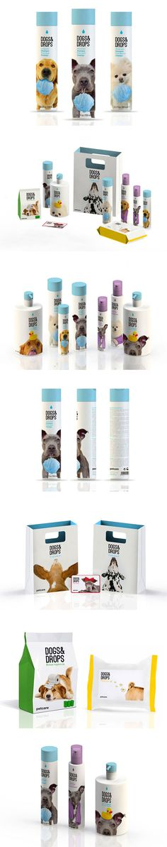 Not a pet food product, but we just love the clean design of these dog shampoo bottles!
