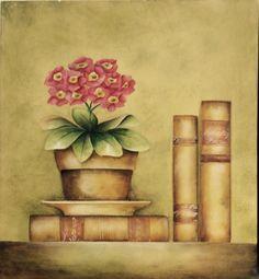 Pintura decorativa em placa de MDF