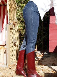 Damen Reithose Classic Leather