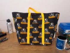 Check out this item in my Etsy shop https://www.etsy.com/listing/537640818/steelers-tote-bag