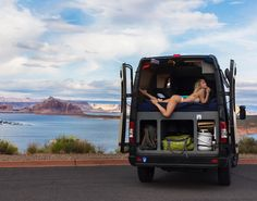 Home is where you park it. And today home is Lake Powell 🙌🏻🚐 📸 by Sprinter Rv, Mercedes Sprinter, Vw Lt, Transit Camper, Sara Underwood, Lake Powell, Expedition Vehicle, Diy Camper, Great Night
