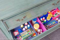craft drawer organization