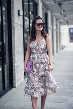 the perfect lace midi dress for Valentine's Day | Houston Fashion Blog, The Styled Fox