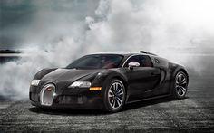 Bugatti veyron black cars mist smoke (1920x1200, veyron, black, cars, mist, smoke)  via www.allwallpaper.in