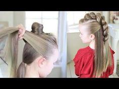 PEINADOS FÁCILES Y BONITOS 2018 🔥.HOW TO LUCIR GENIAL IN MINUTES! - YouTube Little Girl Hairstyles, Cute Hairstyles, Braided Hairstyles, Wedding Hairstyles, Crazy Hair Days, Toddler Hair, Tips Belleza, Love Hair, Hair Dos
