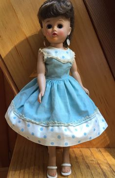 Vogue Doll Inc Jill Doll in Blue and White Party Dress | eBay