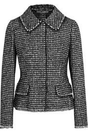 Dolce & Gabbana - Houndstooth tweed jacket : Black and white tweed Concealed snap fastenings through front wool, Black And White Jacket, Black Wool, Black White, Houndstooth Jacket, Blazer Jackets For Women, White Jackets, Straight Jacket, Formal Suits, Tailored Jacket