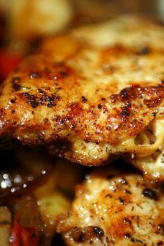 Pan Fried Chicken in a Mustard Lemon Sauce