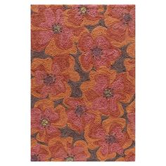 Handcrafted floral rug.   Product: RugConstruction Material: 100% PolyesterColor: RaspberryFeatures: Hand-hookedNote: Please be aware that actual colors may vary from those shown on your screen. Accent rugs may also not show the entire pattern that the corresponding area rugs have.