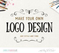 Pre-made logo design DIY logo premade logo watercolor floral logo vintage logo business logo