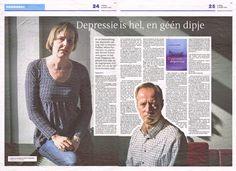Artikel uit het Dagblad van het Noorden van 13 maart 2015. Patiënte Selma Parmentier en psychiater Robert Schoevers over hun boek Diagnose Depressie.