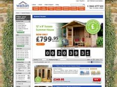 Typical category page on the Waltons website (24 Jun 2013)