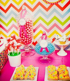 Love this candy bar for 2st bday!  Great rainbow theme for a kids or babies birthday.