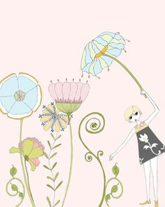 Check out Limited Edition Illustration --- Magical Garden on christahoward