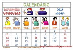 Calendário 2017 em Libras   https://vidacff.blogspot.com.br/2016/11/calendario-2017-em-libras.html ...