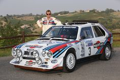 1985 Lancia Delta Rally Campaigned by both Lancia and Jolly Club in the iconic Martini livery. Autos Rally, Bmw Autos, Rally Car, Lancia Delta, Auto Motor Sport, Sport Cars, Race Cars, Nissan Gtr R34, Subaru Rally