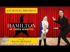 "In a way only he could... ""Hamilton"" star Lin-Manuel Miranda performs his award-winning musical in three minutes with the help of Ellen's 7-year-old presiden..."