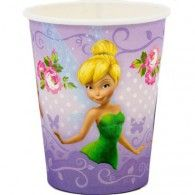 Tinkerbell Party Cups Pack of 8 Tinkerbell Fairies, Tinkerbell Party, Disney Fairies, Disney Balloons, Helium Balloons, Latex Balloons, Party Supplies Australia, Kids Party Supplies, Wedding Balloons