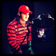 Roger Federer sits down for an interview with ESPN.  Photo by Peligro Pictures. #tennis
