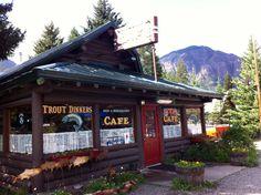 Log cabin cafe, Silver Gate, MT