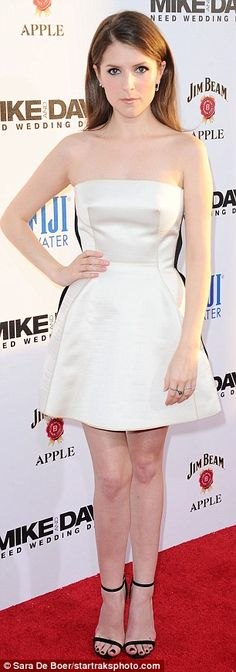 Heavenly! Aubrey Plaza and Anna Kendrick cut a divine figure at the premiere of Mike And Dave Need Wedding Dates in Los Angeles on Wednesday