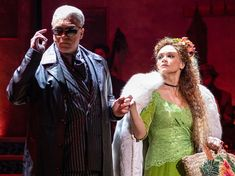 new pics from on broadway: patrick page as hades and amber gray as persephone Persephone Costume, Hades And Persephone, Theatre Geek, Musical Theatre, Broadway Costumes, Broken Leg, Dear Evan Hansen, Fandoms, Mean Girls
