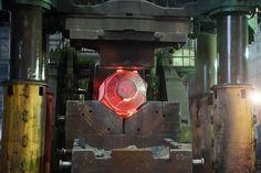 Forging: Hidraulic Press pressing an ingot.