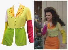 What Fran Wore: Moschino color block jacket