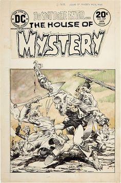 Original cover art by Bernie Wrightson from House of Mystery #231, published by DC Comics, May 1975.