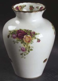 Large Grosvenor Vase in the Old Country Roses pattern by Royal Albert China