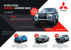 En Mitsubishi Saltillo seguimos con la #MitsubishiMania. ¡Llevate el nuevo Mitsubishi!, elige el modelo y el Plan de Financiamiento que mejor se ajuste a tu presupuesto.