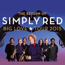 Simply Red: Big Love Tour 2015 // 27.10.2015 - 10.11.2015  // 27.10.2015 19:30 WIEN/Wiener Stadthalle Halle D // 29.10.2015 20:00 MÜNCHEN/Olympiahalle München // 30.10.2015 20:00 STUTTGART/Hanns-Martin-Schleyer-Halle // 31.10.2015 20:00 FRANKFURT/Festhalle Frankfurt // 02.11.2015 20:00 HAMBURG/o2 World Hamburg // 03.11.2015 20:00 BERLIN/o2 World Berlin // 04.11.2015 20:00 HANNOVER/TUI Arena // 06.11.2015 20:00 DORTMUND/Westfalenhalle 1 // 07.11.2015 20:00 LEIPZIG/Arena Leipzig // 08.11.2015…
