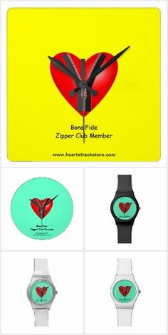 Heart Attack Clocks and Watches. A collection of clocks and watches to help educate and make people aware about Cardiovascular Disease (CVD) and Heart Attacks using promotional aids such as those listed here. Click on photo to view item then click on item to see how to purchase that item. #diabetes #diabetic #t2diabetes #t1diabetes #heartattack #cvd #cardiovasculardisease #hba1c #a1c #zipperclub #sca #suddencardiacarrest #clock #watch #zazzle