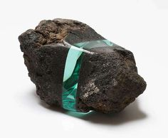 Ramon Todo Seamlessly Embeds Layers Of Glass Into Stones, Fossils And Books - Beautiful/Decay