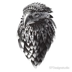 Ornate Tribal Shaman Eagle Print
