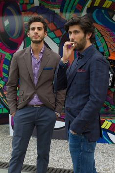 There is something about how Italian men dress. Brave and confident. Men of the world, more of this please. PITTI UOMO 2014