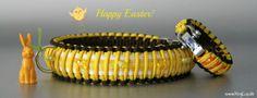 KingLuy Paracord Halsband Happy Easter 2014