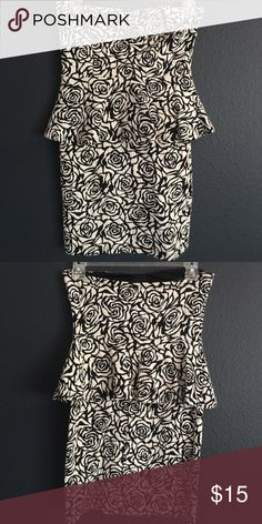 4aafe49d2d Never Worn Short Dress Black   white floral print dress. Its tight all  around