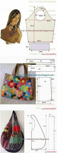 We sew bags - a lot of ideas and images (from the Internet) / Other crafts / sewing