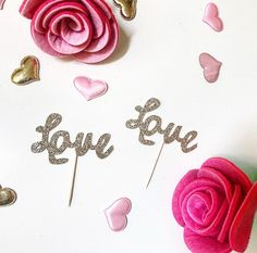 LOVE Cupcake Toppers by SoireeAllday on Etsy https://www.etsy.com/listing/507532389/love-cupcake-toppers