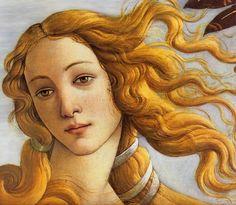 Birth of Venus (detail) by Botticelli.