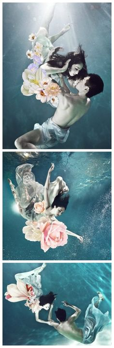 UnderWater wedding shooting, like a drama