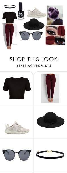 """""""Edgy"""" by sotiriakasapi on Polyvore featuring Ted Baker, adidas Originals and Quay"""
